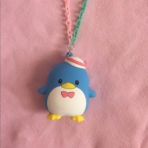 Tuxedo Sam penguin chain necklace handmade